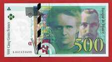 ( Ref: A1 PM3) 500 FRANCS PIERRE ET MARIE CURIE 1998 NEUF (Alph:A recherché)