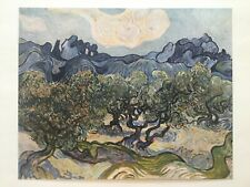 "VINCENT VAN GOGH RARE 1952 LITHOGRAPH PRINT "" LANDSCAPE WITH OLIVE TREES "" 1889"