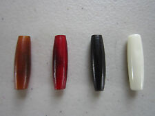 "25 HAIRPIPE 1""  BEADS BUFFALO BONE/HORN JEWELRY CRAFTS AMBER BLACK RED WHITE"