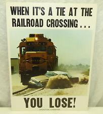 1960s 70s Santa Fe RR Railroad Safety 11x15 Train Poster Operation Life Saver