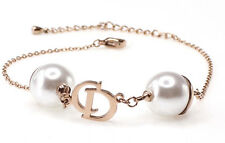 🎀 Brand New Luxury Brand Quality CD Logo Letter Pearl Bracelet Chain Jewerly