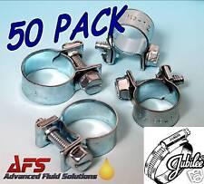 50 x 15mm -17mm Jubilee Mini Junior Fuel Line Hose Clip Petrol Diesel Pipe Clamp