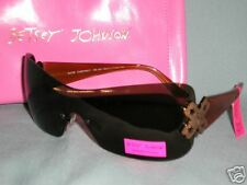 Betsey Johnson Chestnut Frame, Betsey Logo Sunglasses New with Tags & Pink Case