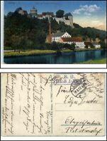 1917 Feldpostkarte Briefstempel Feldpost 1. Weltkrieg ab LEISNIG Mildenstein