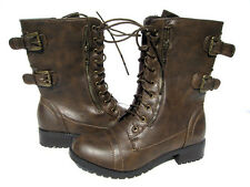New Women's Designer Fashion Boots Brown shoes winter snow Ladies size 6.5