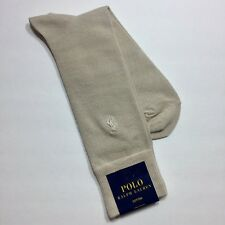 POLO RALPH LAUREN Men's Dress Socks w/Polo Pony Embroidery Color - OYSTER NWT