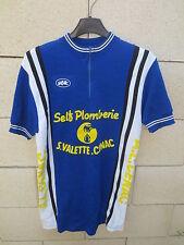 Maillot cycliste SELF PLOMBERIE VALETTE CENAC shirt trikot jersey vintage S / M