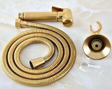 Gold Brass Hand-Held Bath/Toilet Shower Head Nozzle Hose Bidet Spray Set fhh038