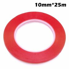 2x 10mm 25m Red 3M Double Sided Sticky Adhesive Tape for Cell Phone LCD Screen