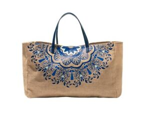 Oriflame Beach Bag Cotton Natural Flower Print Wife Mother Girlfriend Gift 41230