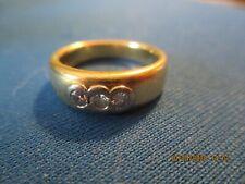 Goldring 750 Gold mit 3 Diamanten