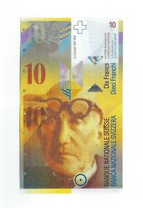 10 Schweizer Franken UNC 2013 - Swiss Francs Banknote