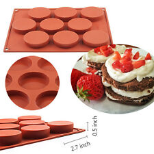 9 Oval Cavity Silicone Cake Mold Pan Muffin Chocolate Cupcake Soap Baking Mould