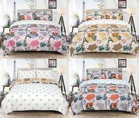 Vintage Paris Love Eiffel Tower Bedding Single Double King Duvet Quilt Cover Set