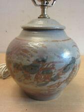 Vintage Signed Mid Century Studio Pottery Pot Vase Lamp signed TF - Tessa Fuchs?