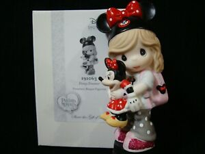 Precious Moments-Disney Dreamer-Girl w/Minnie Mouse Doll-Mouse/Backpack