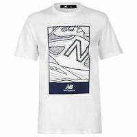 New Balance Mens Shoe Logo T Shirt Crew Neck Tee Top Short Sleeve Cotton Regular
