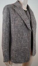 JOSEPH Cream Brown Gold Fleck Silk Wool Leather Blend Blazer Jacket & Waistcoat
