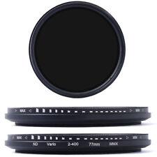 Variable ajustable 77 mm Slim Filtro ND-ND2-ND400.