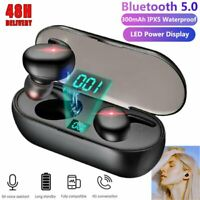 US Bluetooth Earbuds TWS Wireless Earphones Waterproof Headphones in Ear Headset