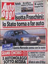 Auto OGGI n°26 1987 Maserati 228 - Audi 90 Yamaha XT 500  [Q200]
