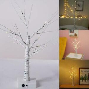 Warm White Easter Birch Tree LED Light Up Christmas Twig Hanging Tree Decor C1H0