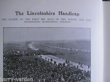 Lincolnshire Handicap Lincoln Racecourse Horseracing Rare Antique Article 1908