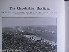 Lincolnshire Handicap Lincoln Racecourse Horseracing Rare Antique Article 1908