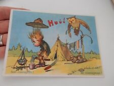 SCOUT SCOUTING POSTCARD OWL  AUTHENTIC VINTAGE ITEM