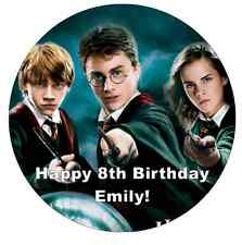 "Harry Potter Personalised Cake Topper 7.5"" Edible Wafer Paper"