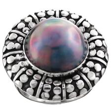 GORGEOUS BLUE MABE 925 STERLING SILVER SZ 8 ring