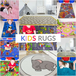 Fun & Interactive Kids Playmats Colourful Easy Clean Small Large Childrens Rugs
