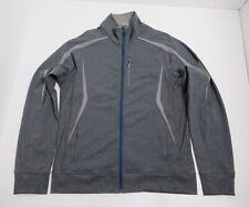 Lululemon Men's Full Zip Jacket Size L Heathered Gray Four Way Stretch