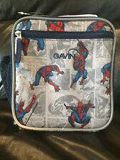 New Pottery Barn Kids Spiderman Comic Classic Lunch Bag Box, Monogram * Gavin *