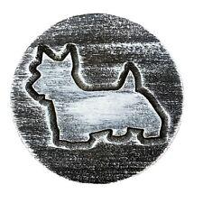 "Dog Scottie mold garden ornament casting plaque mould 7.75"" x 3/4"" thick"