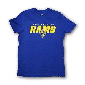 Los Angeles Rams NFL '47 Men's Blue Short Sleeve T-shirt New