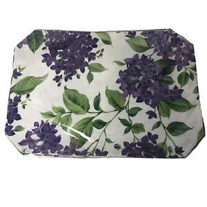 Set of 4 Hydrangea Blossoms Placemats - Purple