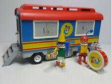 Antiguo Remolque Playmobil System 3477 Vagon Circo Circus Romani Payaso Musico