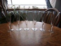 Wine Blown Crystal Flared - Set of 6
