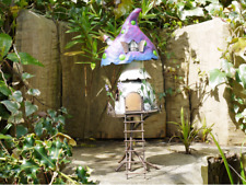 Handmade Rustic Metal Colourful Fairy Treehouse Patio/Garden Ornament (5308)
