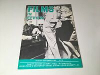 Films In Review Vintage Cinema Movie Magazine Aug-Sept 1983 Marilyn Monroe Cover