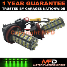 2X CANBUS GREEN H8 60 SMD LED FOG LIGHT BULBS FOR BMW 3 7 SERIES X1 MINI CLUBMAN