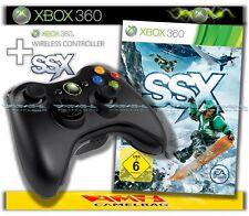 ORIGINALE MICROSOFT XBOX 360 wireless controller gamepad e SSX SNOWBOARD NUOVO