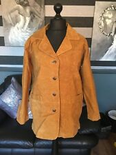 Milan Leather Ladies Suede Jacket Tan Brown Fully Lined Size 10 BNWT