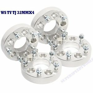 "4 Pieces Wheel Spacer 32MM for 87-06 Wrangler/02-13 Liberty 5LUG 5X4.5 5x5"" 1.25"