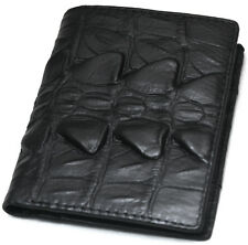Mens Leather Wallet Black Bifold Credit Card Holders Coin Zippered Purse F5014A