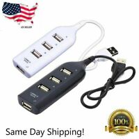 High Speed 4 Port USB 2.0 Multi HUB Splitter Expansion Desktop PC Laptop Adapter