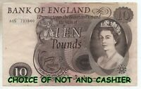 ENGLISH TEN £10 POUND BANK NOTE CHOICE OF NOTE AND CASHIER