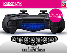 KNR2297 SYMBOLS | Dualshock 4 PS4 Lightbar Light Bar Decal DS4