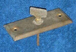 Antique / Vintage? Brass Mechanical Door Bell Turn / Twist Knob & Escutcheon